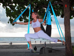 yoga swing exercise to gain strength